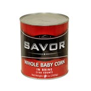 Savor Whole Baby Corn, 150 count per pack -- 6 per case.