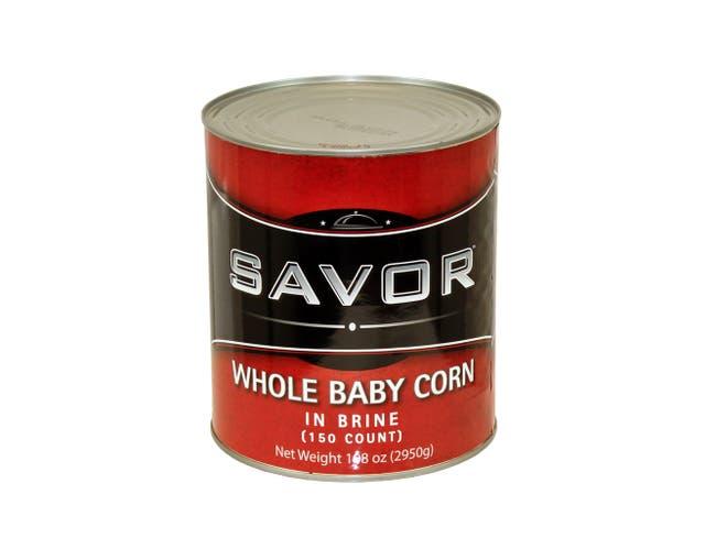 Savor Whole Baby Corn, 150 count per pack -- 6 per case.