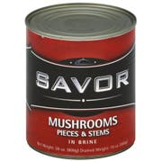 Savor Imports Mushroom Pieces and Stems, 16 Ounce -- 24 per case.
