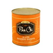 Pan Chi Sliced Bamboo Shoots, Number 10 Can -- 6 per case.