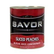 Savor Imports Sliced Peach in Juice, 109 ounce -- 6 per case.