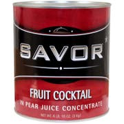 Savor Imports Fruit Cocktail in Pear Juice Concentrate, Number 10 Can -- 6 per case.