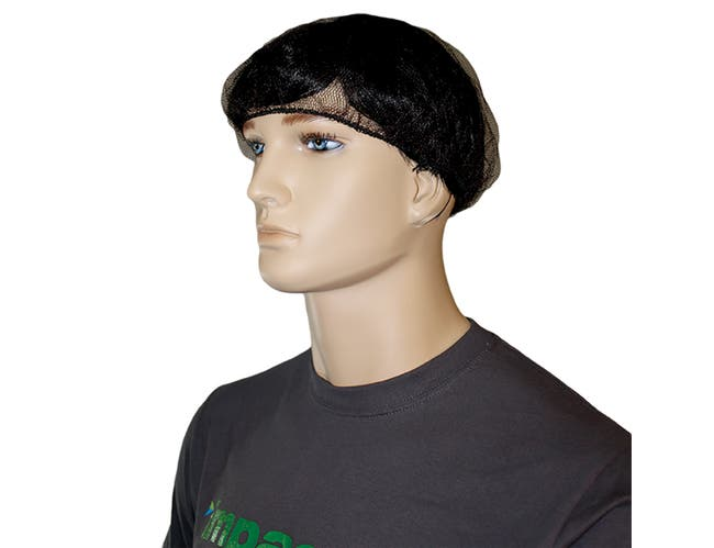 Impact Products Nylon Mesh Brown Hairnet, 18 inch -- 1 each.