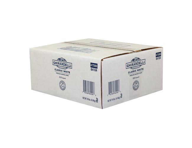 Ghirardelli Vanilla Classic White Chocolate Chips, 10 Pound -- 1 each.