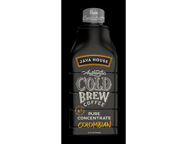 Java House Colombian Authentic Black Cold Brew Coffee, 32 Ounce -- 6 per case.