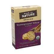 Back To Nature Organic Stoneground Wheat Crackers - 6 oz. box, 6 per case