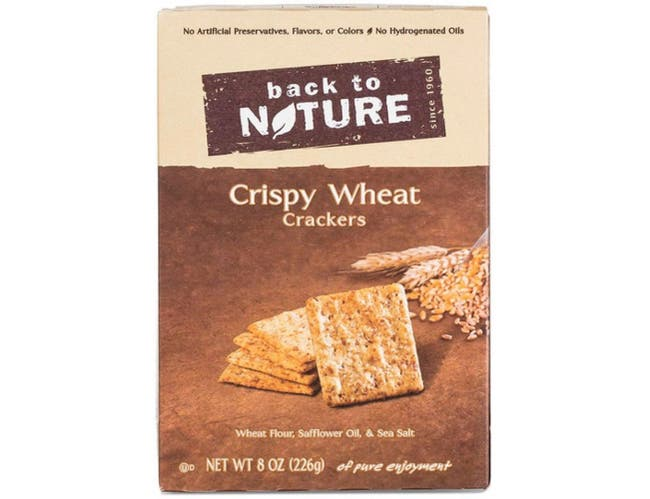 Back to Nature Crispy Wheat Cracker, 8 Ounce -- 4 per case.