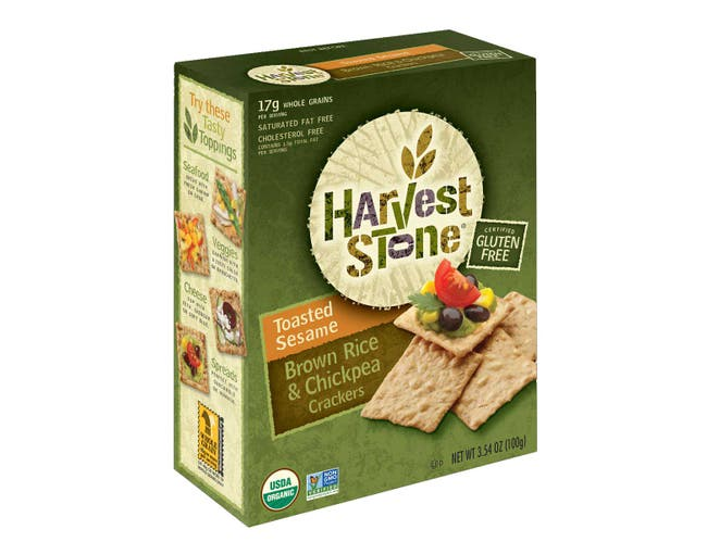 Harvest Stone Organic Toasted Sesame Brown Rice Chickpea Cracker, 3.54 Ounce -- 6 per case