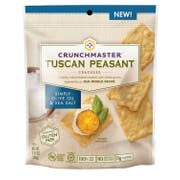 Crunchmaster Simply Olive Oil and Sea Salt Tuscan Peasant Cracker, 3.54 Ounce -- 12 per case.