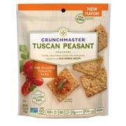Crunchmaster Tuscan Peasant Fire Roasted Tomato Basil Baked Cracker, 3.54 Ounce -- 12 per case.