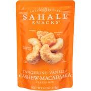 Sahale Tangerine Vanilla Cashew and Macadamia Nuts Glazed Mix, 4 Ounce -- 6 per case.