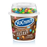 Yocrunch Vanilla Yogurt with M and Ms , 6 Ounce -- 12 per case.