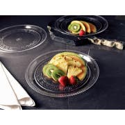 Party Tray Round Clear Tray, 10 inch -- 25 per case.