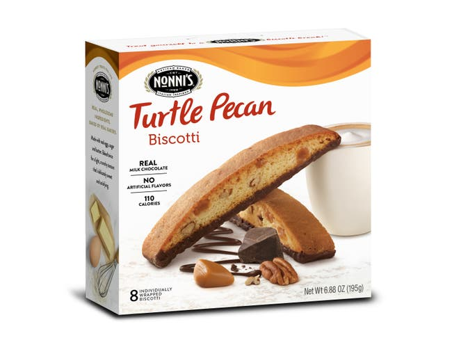 Nonnis Turtle Pecan Biscotti, 6.88 Ounce -- 12 per case.