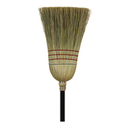 Broom, Warehouse Broom, Corn Wood Handle, Economy ---  6 Count