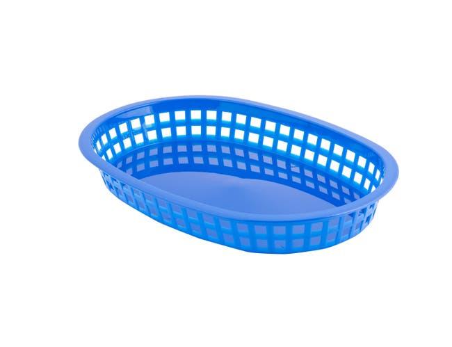 Plastic Royal Blue Basket, 10.5X7X1 -- 36 per case