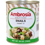 Savor Brands Extra Large Snail, 28 Ounce -- 12 per case.