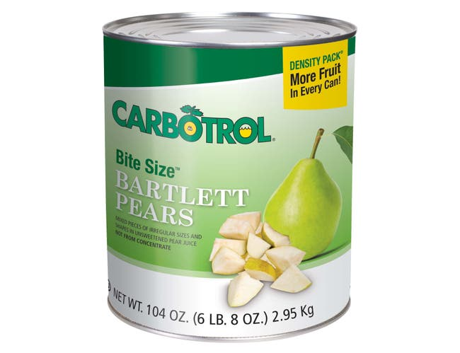 Carbotrol Bite Size Pear 6 Case 10 Can