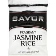 Savor Imports Long Grain Imported Jasmine Rice, 20 Pound -- 1 each.
