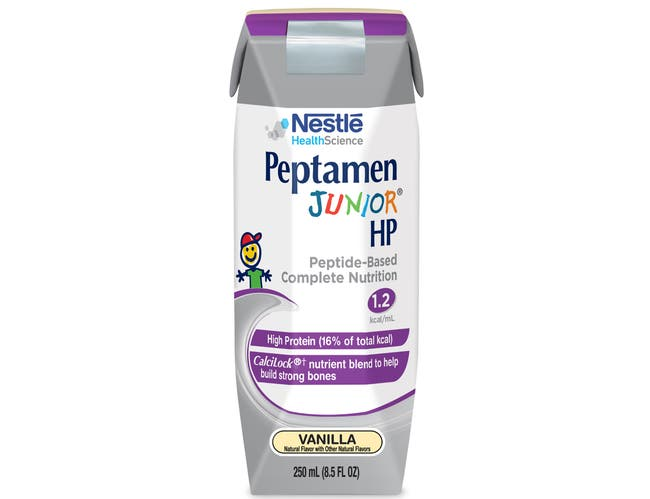 Nestle Peptamen Junior HP Vanilla Prism Drink, 8.45 Fluid Ounce -- 24 per case.