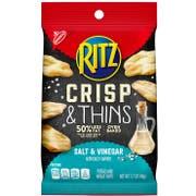 Ritz Salt and Vinegar Crisp and Thins Chips, 1.7 Ounce -- 12 per case.