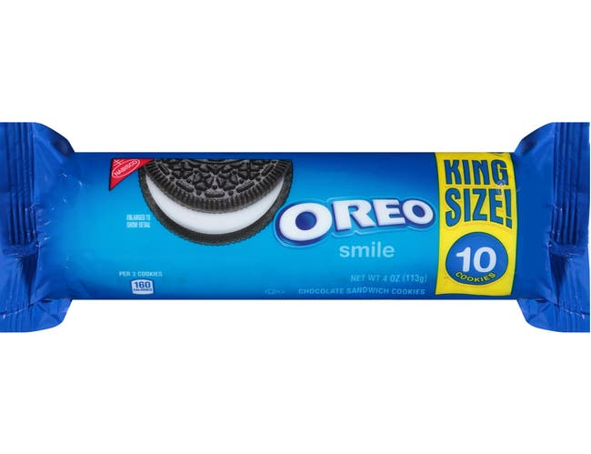 Oreo King Size Cookies, 4 Ounce -- 20 per case.