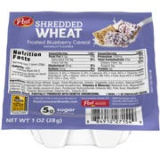 Post Blueberry Shredded Wheat Cereal, 1 Ounce -- 96 per case.