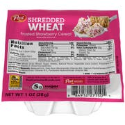 Post Shredded Wheat Frosted Strawberry Cereal, 1 Ounce -- 96 per case.