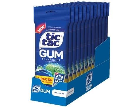 Tic Tac Multi Freshmint Sugar Free Gum, 2.95 Ounce -- 24 per case.