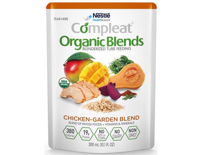 Compleat Organic Blends Chicken Garden Blend Tube Feeding, 10.1 Fluid Ounce -- 8 per case.