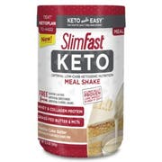 SlimFast Keto Vanilla Cake Batter Meal Replacement Powder, 12.2 Ounce -- 2 per case.
