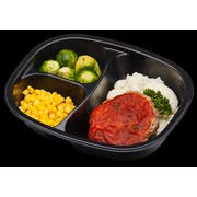 Golden Gourmet Meatloaf with Tomato Sauce Brussels Sprouts Mashed Potatoes Meal, 11 Ounce -- 20 per case.