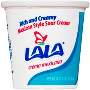 Lala Mexican Style Sour Cream, 24 Fluid Ounce -- 6 per case.