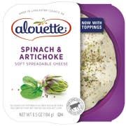 Alouette Spinach Artichoke Soft Spreadable Cheese, 6.5 Ounce -- 6 per case.