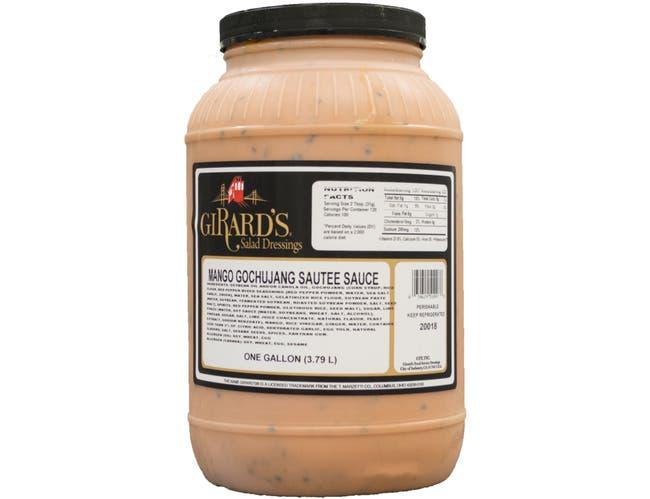 Girards Mango Gochujang Saute Sauce, 1 Gallon -- 2 per case.