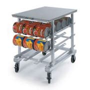 Lakeside Aluminum Stainless Steel Top Counter Height Can Storage and Dispensing Rack, 25 x 35 x 41 inch -- 1 each.