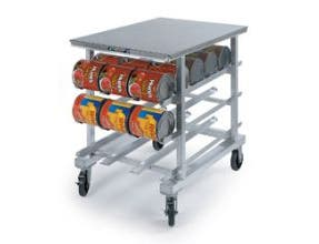 Lakeside Aluminum Stainless Steel Top Work Top Height Can Storage and Dispensing Rack, 25 x 35 x 35 inch -- 1 each.