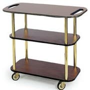 Lakeside Geneva Rectangular Service Cart with Handle Hole, 16 x 42 3/8 x 35 1/4 inch Overall Size -- 1 each.
