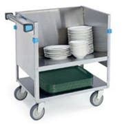 Lakeside Stainless Steel Store N Carry Dish Cart with 2 Shelf, 31 x 19 1/4 x 31 1/2 inch -- 1 each.