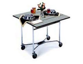 Lakeside Geneva Regular Style Standard Rectangle Table Room Service Table, 36 x 36 x 30 inch Leaves Up Overall Size -- 1 each.
