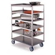 Lakeside Stainless Steel Medium Duty 6 Shelves Banquet Cart - 3 Shelf Edges Up and 1 Shelf Edge Down, 22 1/4 x 36 3/8 x 50 1/8 inch -- 1 each.