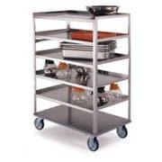 Lakeside Stainless Steel Medium Duty 8 Shelves Banquet Cart - 3 Shelf Edges Up and 1 Shelf Edge Down, 22 1/4 x 36 3/8 x 54 1/2 inch -- 1 each.