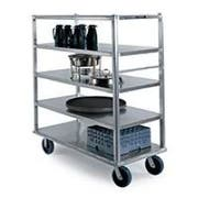 Lakeside Queen Mary Aluminum Extreme Duty 4 Shelves Banquet Cart - All Shelf Edges Down, 29 x 66 x 62 inch -- 1 each.