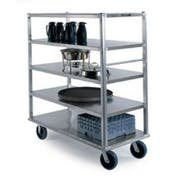 Lakeside Queen Mary Aluminum Extreme Duty 5 Shelves Banquet Cart - All Shelf Edges Down, 29 x 66 x 62 inch -- 1 each.
