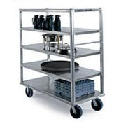 Lakeside Queen Mary Aluminum Extreme Duty 5 Shelves Banquet Cart - All Shelf Edges Down, 29 x 66 x 75 inch -- 1 each.