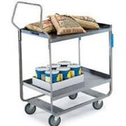 Lakeside Handler Series Heavy Duty Stainless Steel Utility Cart with 2 Shelves, 19 3/8 x 32 5/8 x 46 1/2 inch -- 1 each.