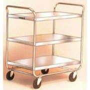 Lakeside Stainless Steel Medium Duty Traditional Series 3 Shelf Tubular Frame Assembled Utility Cart, 15.5 x 24 inch Shelf -- 1 each.