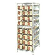 Lakeside Stainless Steel Stationary Can Storage and Dispensing Rack, 25 3/4 x 36 7/8 x 74 1/4 inch -- 1 each.
