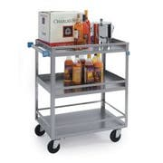 Lakeside Stainless Steel Medium Duty Guard Rail Utility Cart with 3 Shelves, 19 x 31 x 33 3/4 inch -- 1 each.
