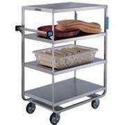 Lakeside Stainless Steel Heavy Duty NSF 4 Shelves Banquet Cart - All Shelf Edges Down, 21 1/2 x 38 1/2 x 49 1/8 inch -- 1 each.